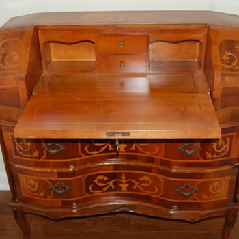 Italian inlaid secretary