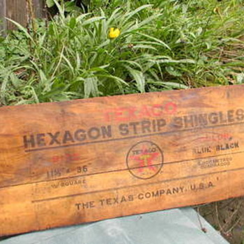 Texaco Hexagon Shingles - Petroliana