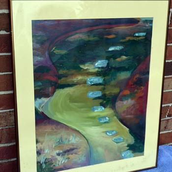 """""""Dusk"""" oil Pastel - Visual Art"""