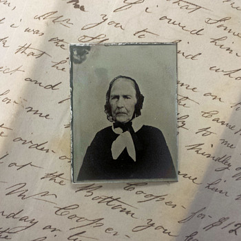 Mid 19 century Tin Type of woman born in 1788 - Photographs