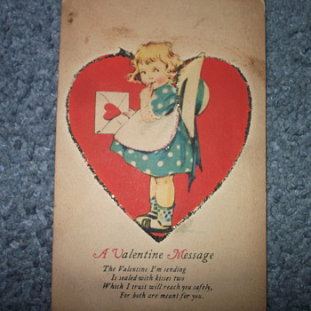 Old Valentine Postcard from unknown year