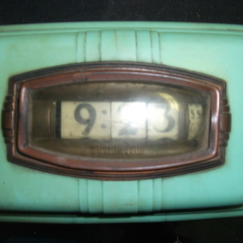 1939 Aqua Pennwood Wall Numechron Model #104 - Art Deco