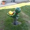 old playground spring ride turtle