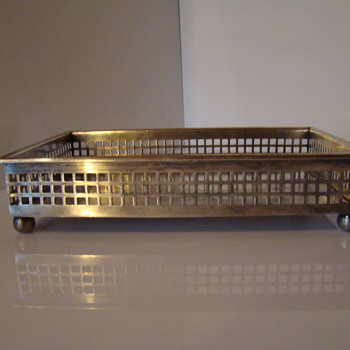 Polish Fraget art deco  silver plated tray