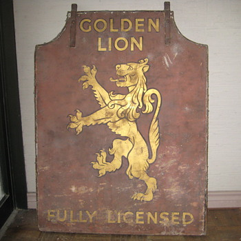 """Golden Lion"" sign"