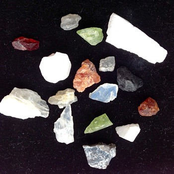 Multi coloured rough Gem Stones