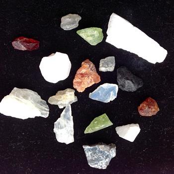 Multi coloured rough Gem Stones