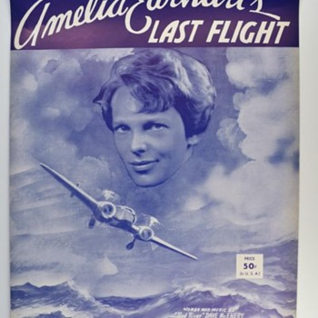 Amelia Earhart sheet music 1939--Now There is info she didn't die in crash! - Music Memorabilia
