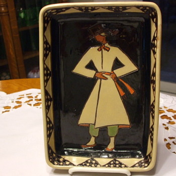 Rare & Unusual Art Deco QUEBEC ART POTTERY TRAY