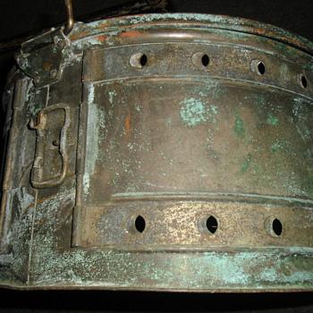 Antique sz. L. Heavy Copper MinnowTrap/ Vintage Pflueger Reel /Collectable Lures