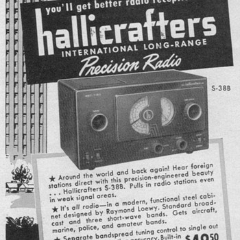 1951 - Hallicrafters Model S38-B Radio Advertisement - Advertising