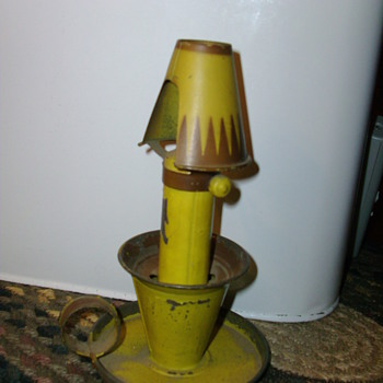 neat little tin lamp - Lamps