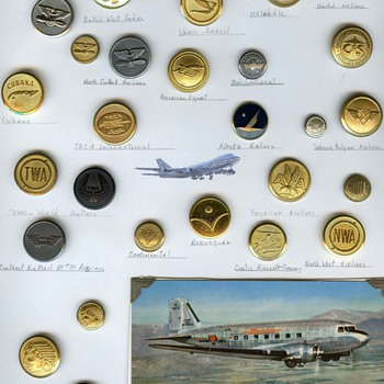 Aviation uniform buttons