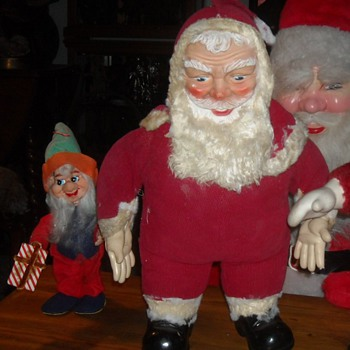 Rushton 1950s My Toy Plush Santa Claus