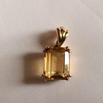 Vintage citrine pendant - Fine Jewelry