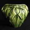 1899 Eugène Baudin Drip Glazed Leaf Form Ceramic Vase