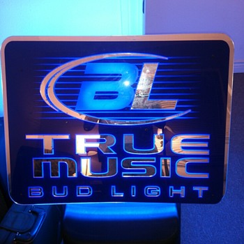 True Music Bud Light Sign