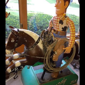 1950s Sandy 10-Cent Kid's Riding Horse - Coin Operated