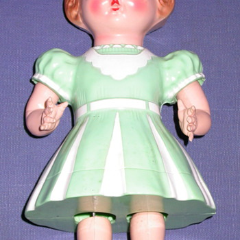 Vintage Wind Up Walking Doll