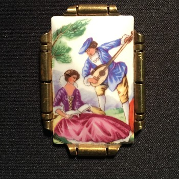 Old Antique Brooch unknown painting or era - Costume Jewelry