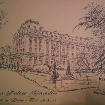 Trianon- palace Versailles 1970s menu - Paper