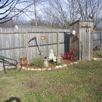 new pic of around the outhouse