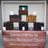 Old Wooden Machinist Tool Chests Collection