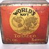 "World's Navy Tobacco Plug Smoking Tin Box""1920-30"