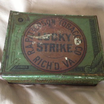 Lucky Strike 4oz square tin