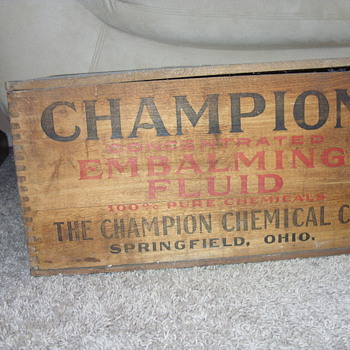 old embalming fluid box - Advertising