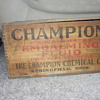 old embalming fluid box