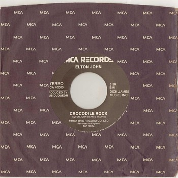 45rpm - Elton John - 1972 - Records