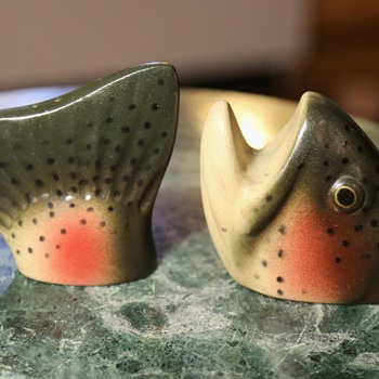 Fish Salt and Pepper Shakers - AE92 Mintz - Kitchen