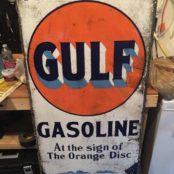 Early gulf sign - Petroliana