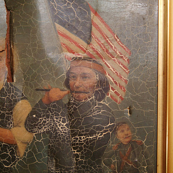Very old late 1800s Sprit of 76 painting damaged