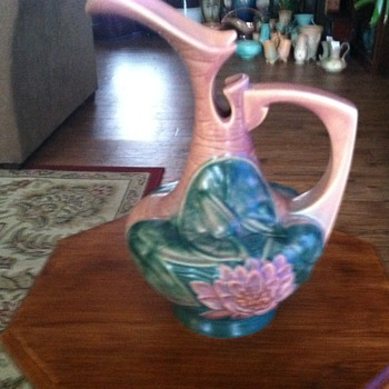 Roseville Water Lily Ewer