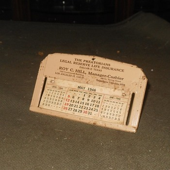 Small Desk Calendar From 1946
