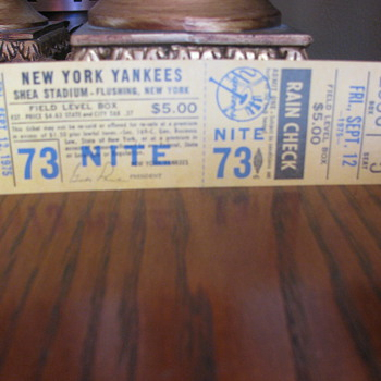 Yankee unused stadium ticket