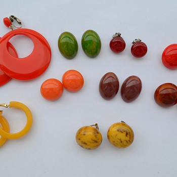 Bakelite Earrings and More...