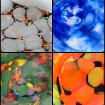 'Bottoms Up' Rückl Glass Base Decors - A Kaleidoscope Of Colors - Art Glass