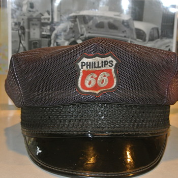 "1950's Phillips 66 ""Summer Mesh"" Service Station Cap - Petroliana"