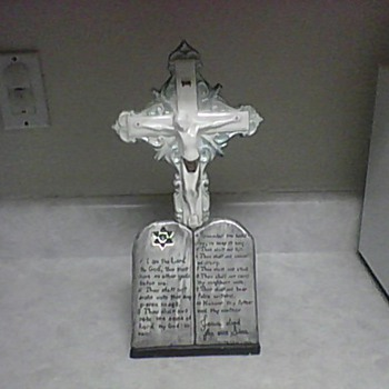 VINTAGE ALTAR CROSS - Folk Art