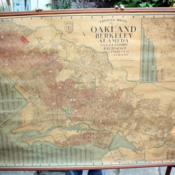 Thomas&#039; Brothers Map of Oakland, Berkeley, Alameda, San Leandro, Piedmont, Emeryville, Albany and  Hayward, - Paper
