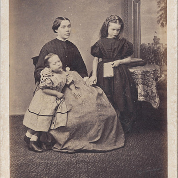 Expressive Family Portrait CDV by Uncredited Studio - Photographs