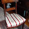 DUTCH Circa 19th Century [Neo-Classical]-form Fruitwood marquetry side chair