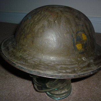 American (AEF) WW1 steel helmet