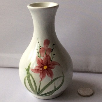 Vintage small hand painted vase