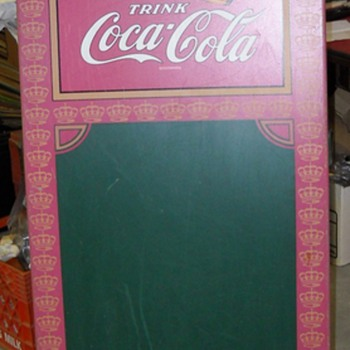 RARE german coke sandwich board sign