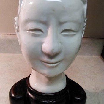 WHITE PORCELAIN ASIAN HEAD