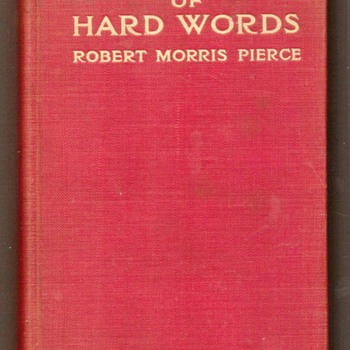 1910 - Dictionary of Hard Words